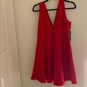 NWT Red Sexy Flared Dress Size XL